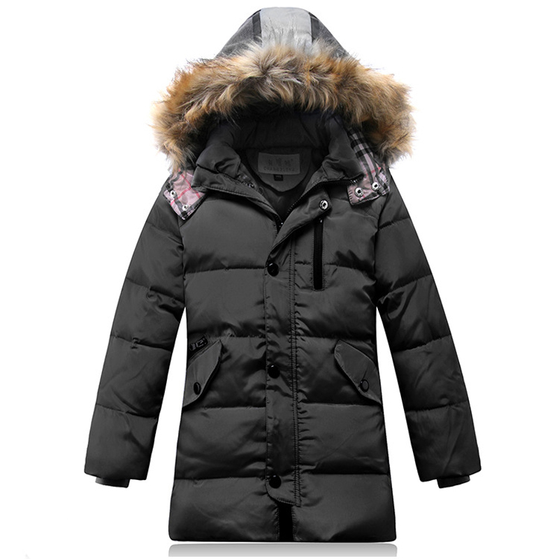 Down Jackets 81-85% White Duck Down Hooded Button Pockets Unisex Kids Winter Warm Outwear 15 rovertime rovertime rtm 85