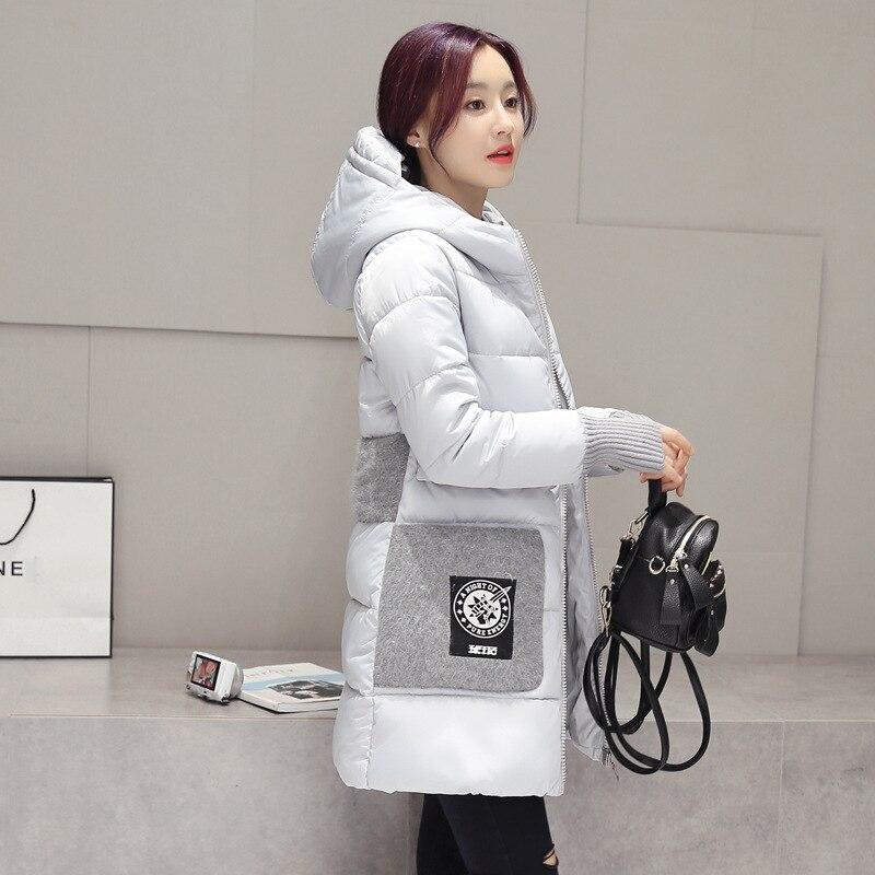 2016 Kış Aşağı Ceket Kadın Uzun Ceket Parkas Kalınlaşma Kadın Sıcak Giysiler Yaka Yüksek Kalite Palto Kapşonlu Parka Ceketler