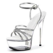 girls's footwear horny enjoyable footwear 15cm stiletto sandals black strap excessive heels 6 inch girls platform footwear