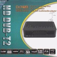 Мини Размеры HD DVB-T2 dvb-t цифрового наземного ТВ тюнер конвертер 1080 P HDMI выход USB PVR воспроизведения + FTA UHF УКВ Телевизионные антенны приемника