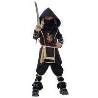 Kostiumy Halloween Assassin Dla Dzieci Chłopiec Dzieci 7-częściowy Zestaw Kung Fu Ninja Wojownik Kostium Cosplay Ubrania dla Chłopców