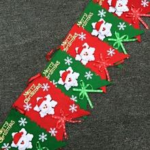 Nouvelle Année de coloré de noël drapeau pend bien, partie décoration bonhomme de neige décoration ensemble Enfeites de natal(China (Mainland))