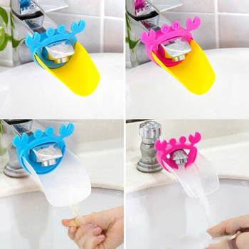 2018 New Cute Faucet Extender Toddlers Kids Babies Sink Handle Extenders for Home Bathroom Accessory Supply