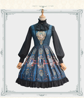 Classic Lolita Dress Medieval Renaissance Cotton Dress Castle Moon JSK victorian dress Cosplay Lolita summer style