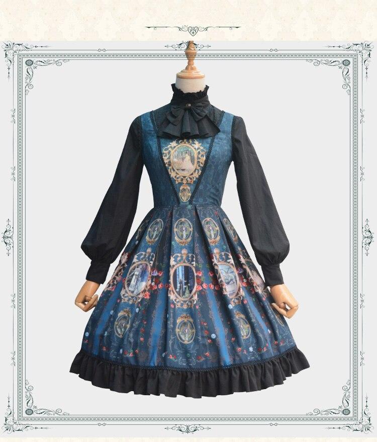 Robe Lolita classique médiévale Renaissance robe en coton château lune JSK robe victorienne Cosplay Lolita style d'été