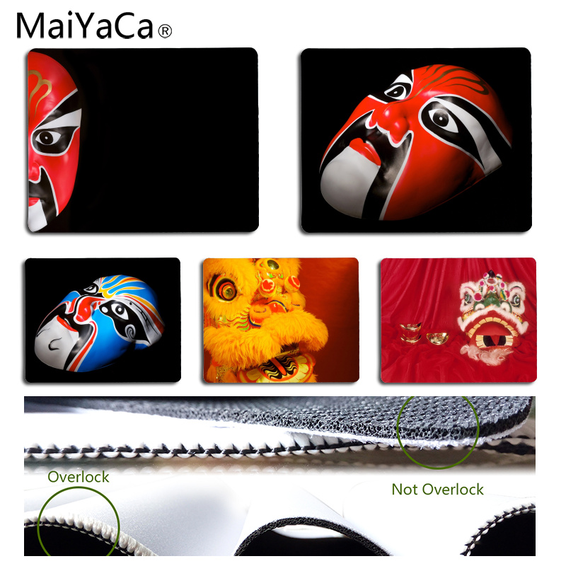 MaiYaCa Cool New Chinese style mask Customized laptop Gaming mouse pad Size for 18x22cm 25x29cm Rubber Rectangle Mousemats
