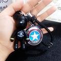 FULL WERK Cartoon Car Keychain Violent Bear Avenger Union Key Chain Ring Keyfob Bag Pendant