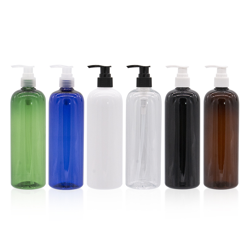 500ML Empty Dispenser Pump Colored Plastic Bottle 500cc Cosmetic Container With Lotion Pump For Shampoo Lotion