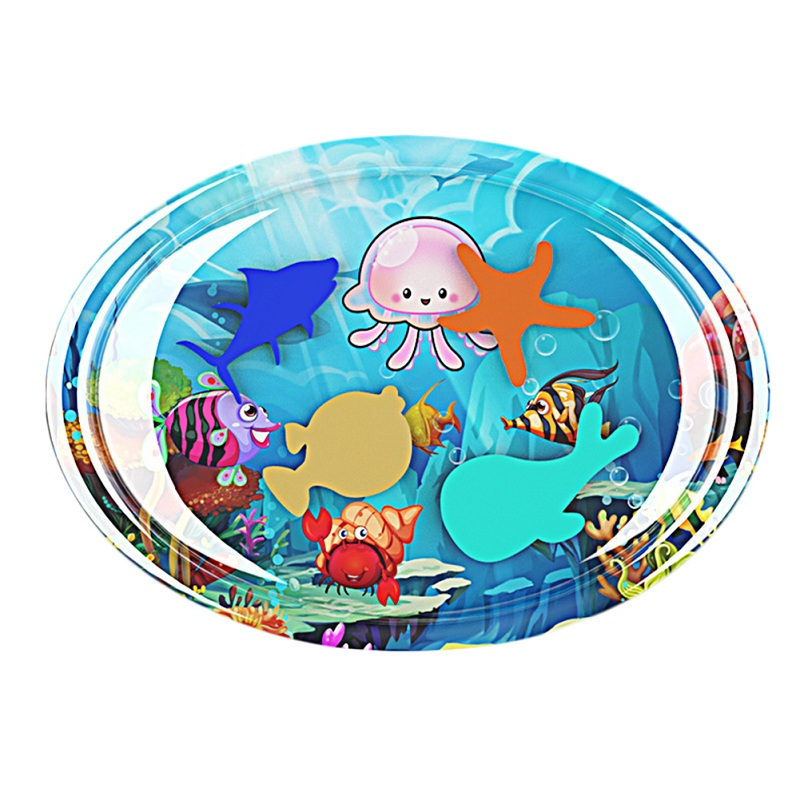 HTB17Z89X7T2gK0jSZPcq6AKkpXa8 Hot! 18 Designs Baby Kids Water Play Mat Inflatable Infant Tummy Time Playmat Toddler for Baby Fun Activity Play Center Dropship