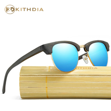 Kithdia Brand Polarized Ebony Wooden Sunglasses / Bamboo and Support DropShipping Provide Pictures #KD040