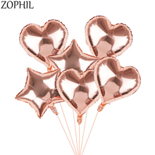 3pcs 18inch Rose Gold Star Heart Foil Balloon Wedding Decoration Bride to be Birthday Party Decorations Kids Baby Shower Boda стол альт 66 111