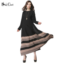 Wholesale Muslim dress Turkish Women clothing islamic stitching abaya Robe musulmane vestidos longos clothes dubai kaftan giyim