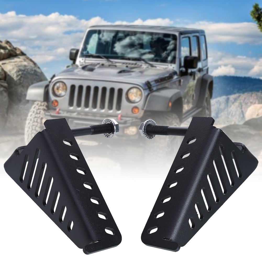 Black car foot pedal metal car door foot rest pedals plate exterior pedal for jeep wrangler