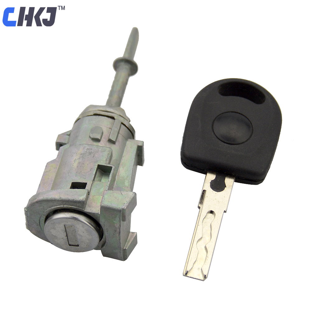CHKJ Left Door Lock Barrel Cylinder for VW GOLF 4 IV MK4 BORA A6 SKODA FABIA POLO 1997-2003 Auto Replacement Lock for LocksmithCHKJ Left Door Lock Barrel Cylinder for VW GOLF 4 IV MK4 BORA A6 SKODA FABIA POLO 1997-2003 Auto Replacement Lock for Locksmith
