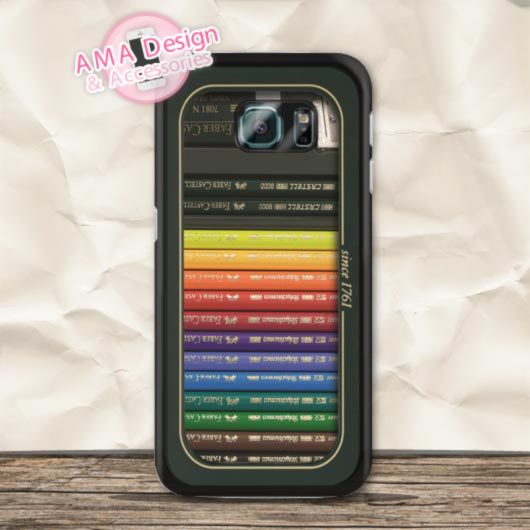 Color Pencil Crayon Box Set Case For Galaxy S8 S7 S6 Edge Plus S5 mini S4 active Ace S3 Core Note 4 Win