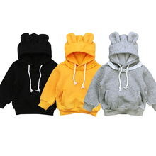 1-5 Years Cartoon Baby Boys Girls Kids Coat Hoodie Jacket Sweater Pullover Outwear Polar Fleece Cartoon Hoodie Coat Warm Jacket