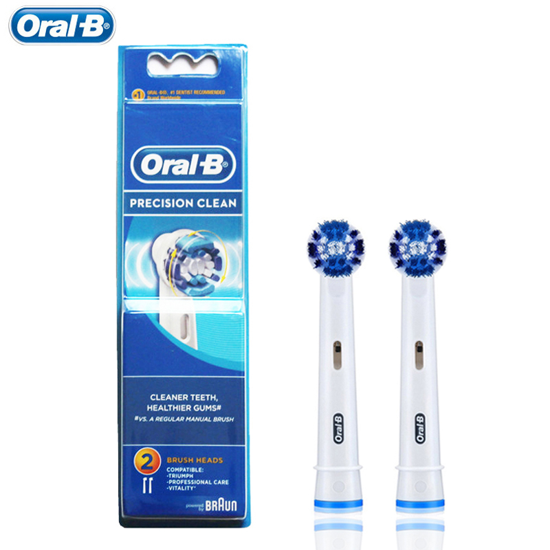 2 pcs/pack Toothbrush Head Oral B EB20 For Rotating Type Tooth Brush Precision Clean Oral Hygiene Electric Toothbrush Heads original oral b toothbrush head eb20 precision clean brush heads for oral b rotation electric toothbrush 4 heads