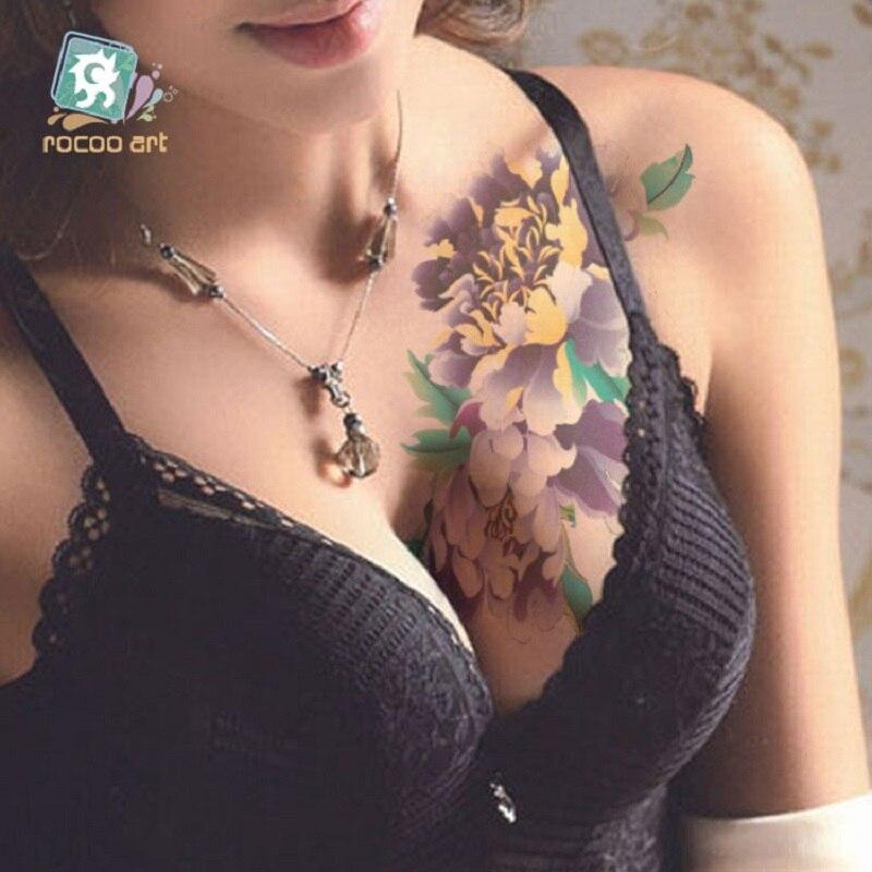Sexy tattoo studio portrait self personalized flower totem tattoo stickers flower pattern tattoo