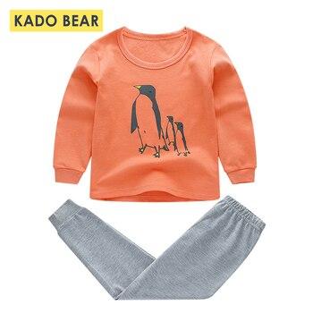 f66571737 Otoño Invierno niños pijamas Cartoon Pijamas bebé ropa niños ropa pijamas  Set Pijama camiseta + Pant