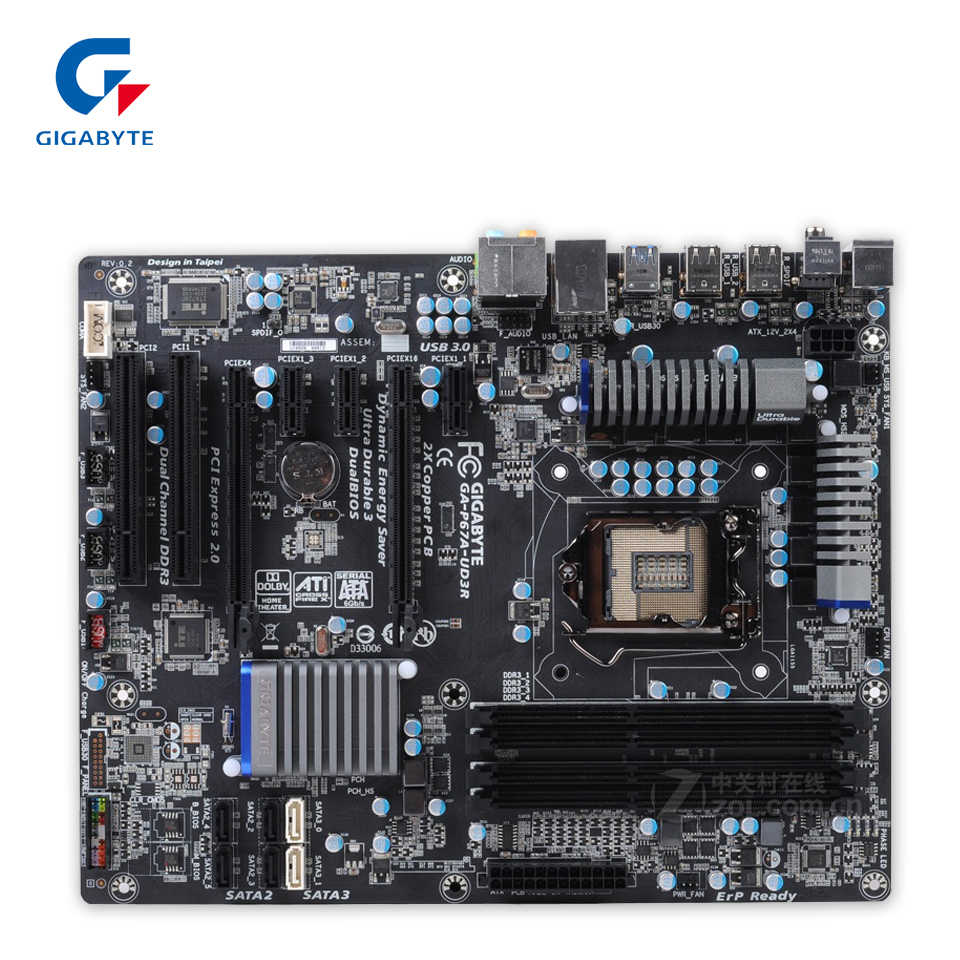 Gigabyte GA-P67A-UD3R Original Used Desktop Motherboard P67A-UD3R P67 LGA 1155 i3 i5 i7 DDR3 32G SATA3 ATX