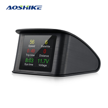 AOSHIKE Automobile Trip On-board Computer Car Digital GPS OBD2 OBD Driving Computer Display Speedometer Temperature Gauge Hud new turbogauge iv auto trip computer scan tool digital gauge 4 in 1 automotive computer for vehicles