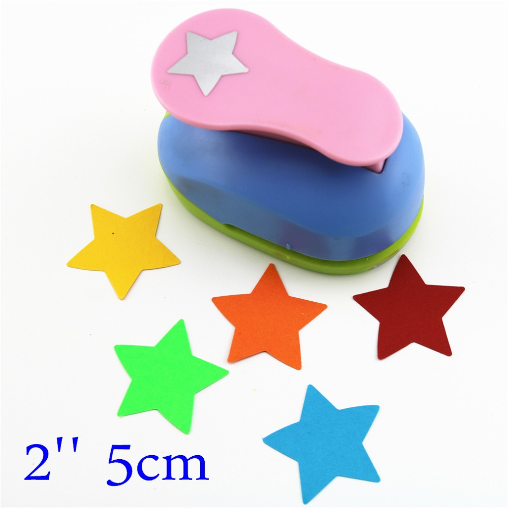 Star Shaped Hole Punches 2'' Craft Punch Paper Cutter Scrapbook Child Craft Tool Embosser Kid S2935-8 Puncher