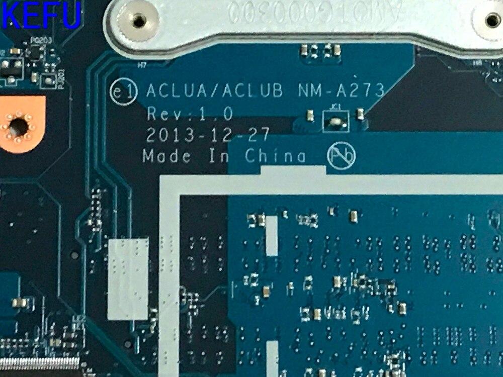 KEFU 100% NEW, ACLUA / ACLUB NM-A273 Laptop Motherboard For Lenovo  Z50-70 ONBOARD PROCESSOR 3558U +VIDEO CARD(qualified Ok)