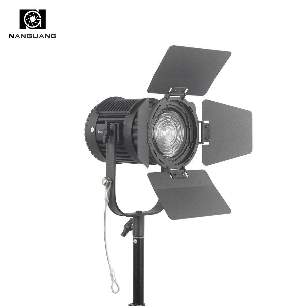 CN-60F 60 w 5600 k LED Fresnel Luce di Messa A Fuoco e Dimming HA CONDOTTO LA Luce Dello Studio + Filtro + Sacchetto di Luce di Colore LED Video Light Studio