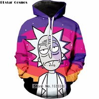 PLstar Cosmos Brand Clothing 2018 New Fashion Hoodies Cartoon Rick And Morty Print 3D Sweatshirt Mens