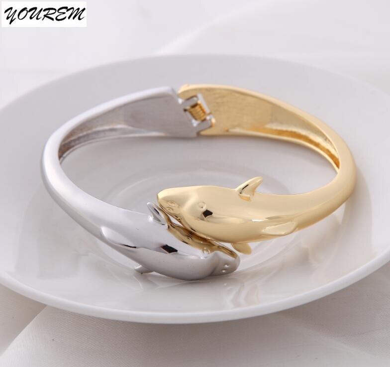 b3b5b5abe5b1 Yourem очень хорошее качество Красочные Дельфин Браслеты для женщин ...