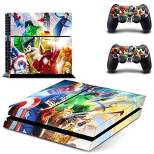 New The Avengers Decal PS4 Skin Sticker For Sony Playstation 4 PS4 Console +2Pcs Controllers 8 patterns choose
