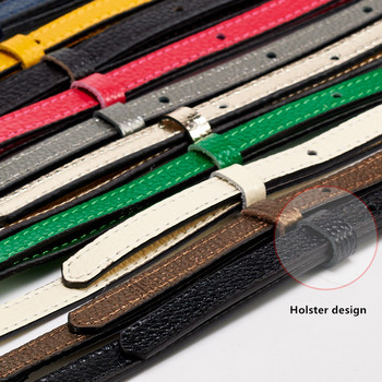 High Quality Multicolor Female Adjustable Thin Pin Buckle Vintage Genuine Leather Shoulder Strap Accessories for Women Bag