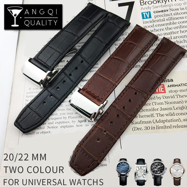 f7824d2056eb9 Genuine Calf Leather Watch Band Stainless Steel Clasp For Maurice Lacroix  MASTERPIECE for Rado Strap Watchband Bracelet 20/22mm