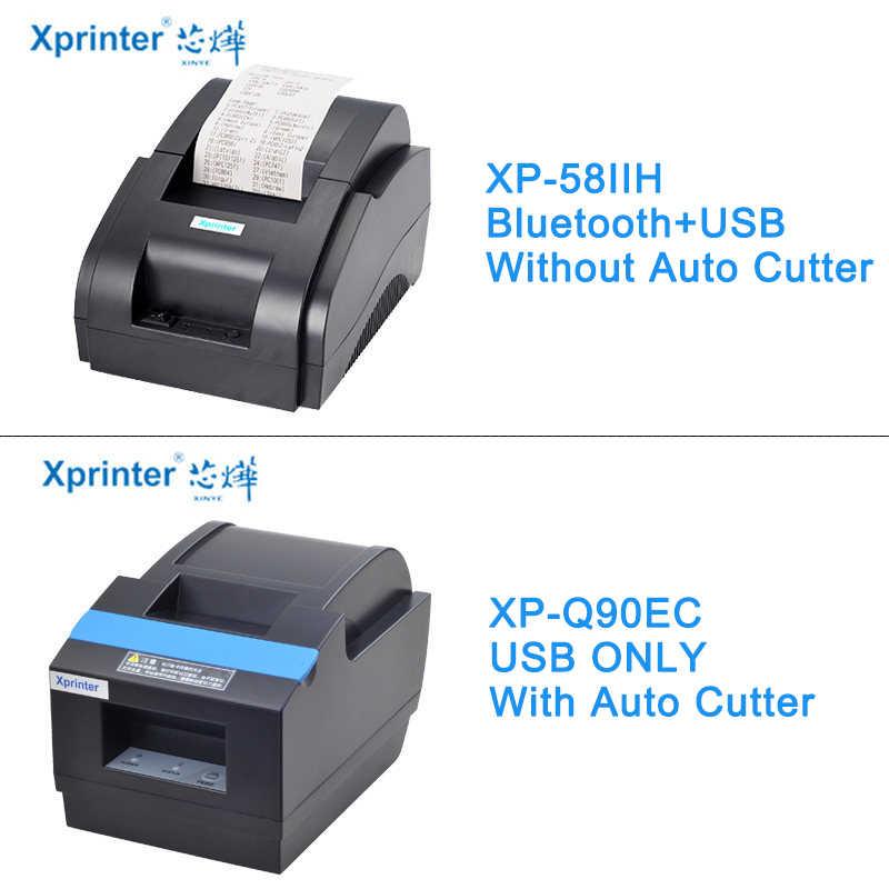 Xprinter 58 мм автоматический резак чековый принтер беспроводной Bluetooth термальные принтеры для iOS Android phone