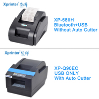 Xprinter 58mm Auto Cutter Receipt printer Bluetooth Thermal Pos Printers For iOS Android Phone USB Bluetooth Port For Store