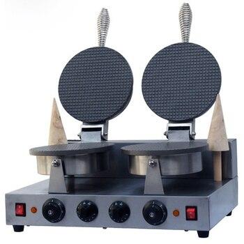 220V Electric Non-stick double Head ice cream waffle cone baker/waffle  cake Ice Cream Cone Maker /CONE SHAPE WAFFLE BAKER/
