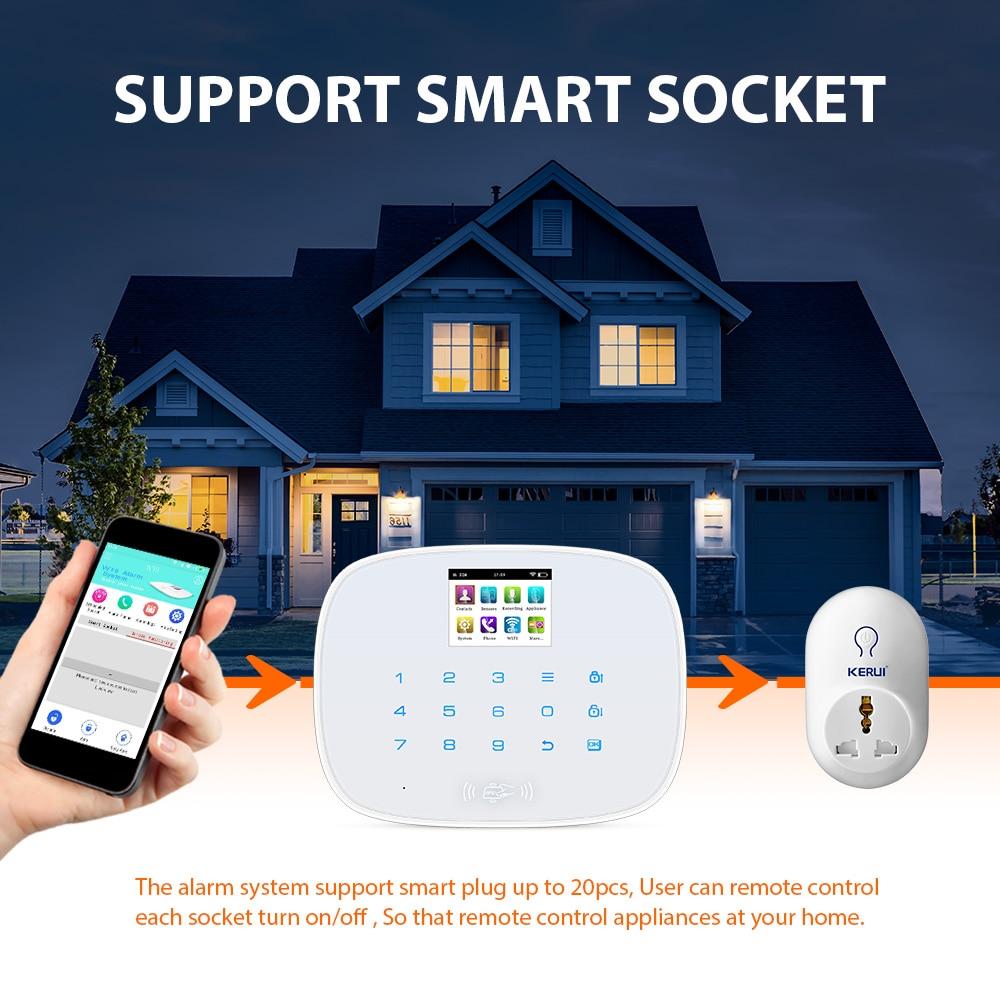 KERUI W193 3G PSTN LCD Smart Alarm Alarmanlagen Sicherheits Hause Alarma GSM RFID IOS Android APP Steuerung Drahtlose WIFI alarm Systeme - 5