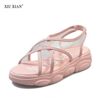 Woman Shoes Casual Slip On Plastic Sandals Shallow Shoe Summer Bear Bottom Cake Sandals Candy Color Comfort Womens Sandals Shoes