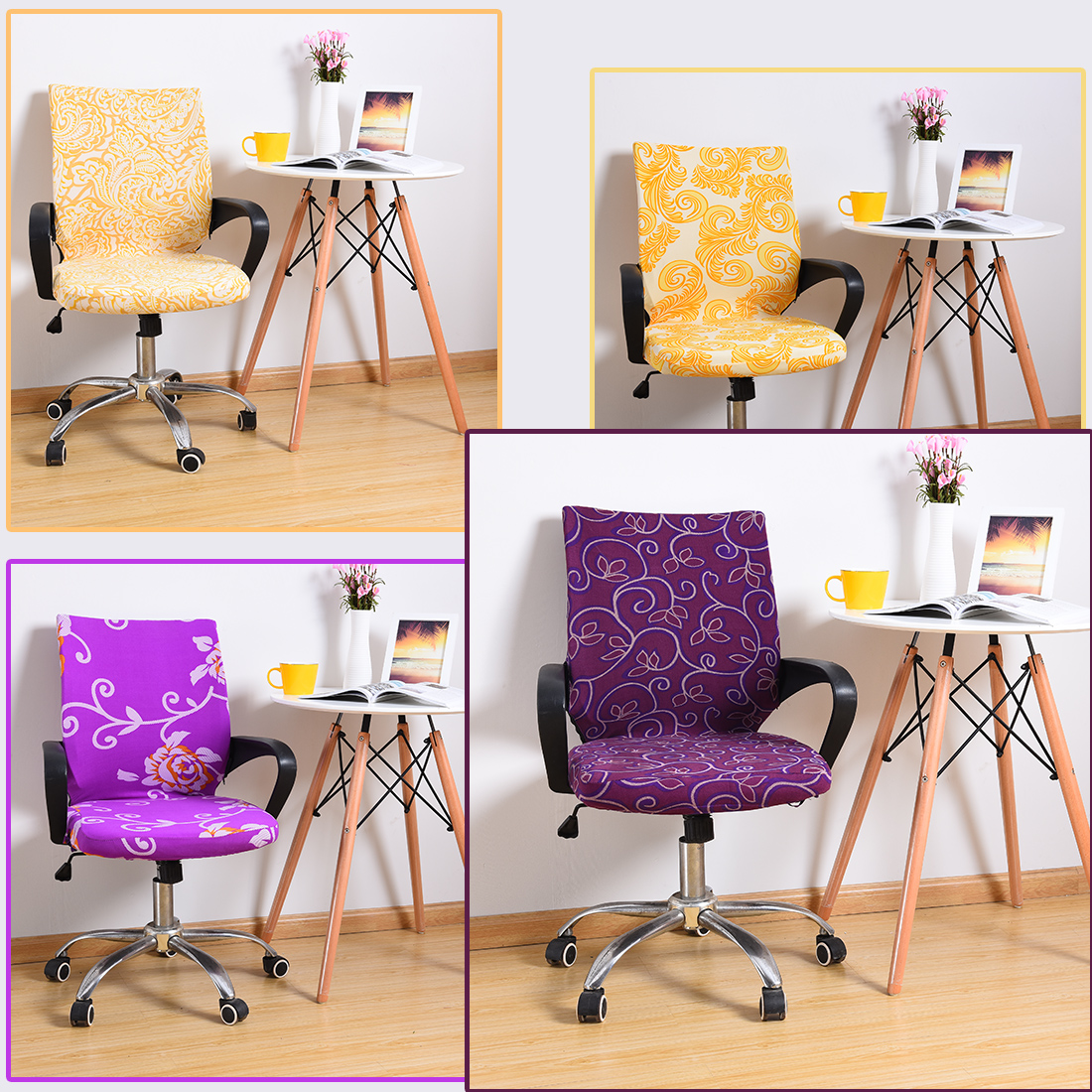 Difenrent colors Spandex computer chair cover fit for office with armrest Stretch decoration