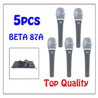 Free Shipping Top Quality BETA87A Karaoke Vocal Wired Cardioid Dynamic Microphone Mike Mic For BETA87A Professional