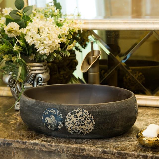 Porcelany Umywalka Umywalka Umywalka Ceramiczna Umywalka Licznik Top