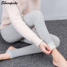 a7373e6c725ad Shevipshe Autumn Winter Women s Plus Cashmere Tights Warm Pantyhose Knitted Velvet  Tights Elastic Slim Warm Collant