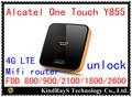Оригинал Разблокировать 4 г Alcatel One Touch Y855 FDD LTE wi-fi маршрутизатор 150 Мбит 3 Г y800 lte 4 г Маршрутизатор Мифи мобильный wifi адаптер pk y854 y853