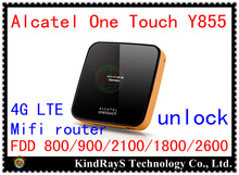 Original Unlock 4g LTE FDD wifi router 150Mbps Alcatel One Touch Y855 3G lte 4g MiFi Router mobile wifi dongle pk y800 y854 y853