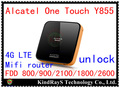 Original desbloquear 4g alcatel one touch y855 fdd lte wifi router 150 mbps 3G lte 4g MiFi Router wifi dongle pk y800 móvil y854 y853