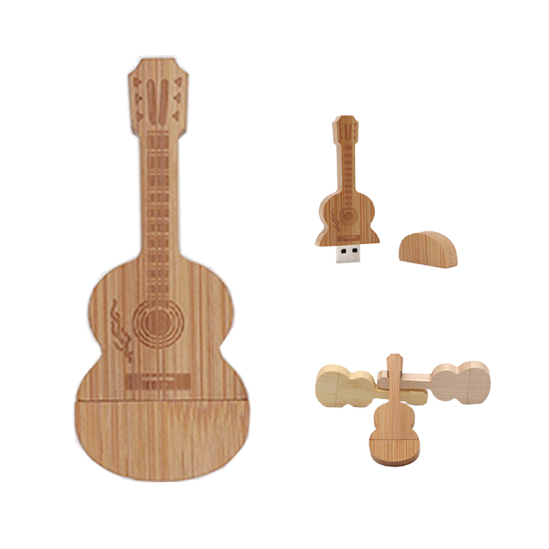 Pendrive 64 Real Capacity  Pen Drive Wooden Guitars Model Usb Flash Drive Memory Stick Pendrive 4GB 8GB 16GB 32GB Wedding Gifts