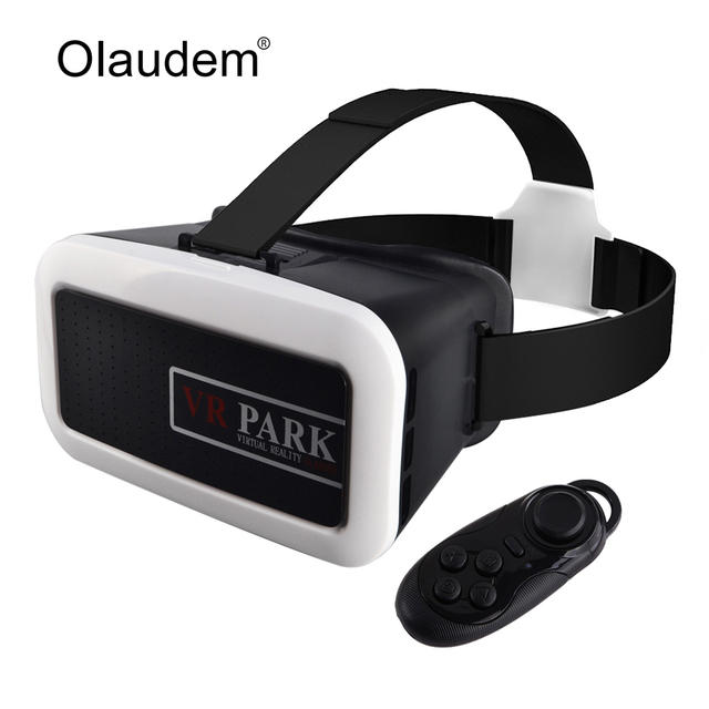 69b9ffb3cc09 VR Glasses Google Cardboard Virtual Reality 3D Glasses VR Park Helmet +  Bluetooth Controller For Smartphone