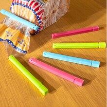 Горячая зажим для полиэтиленовых пакетов кухонный инструмент для хранения пищи зажимы для хранения герметизирующий пакет клип-герметик зажим плюс размер случайный цвет