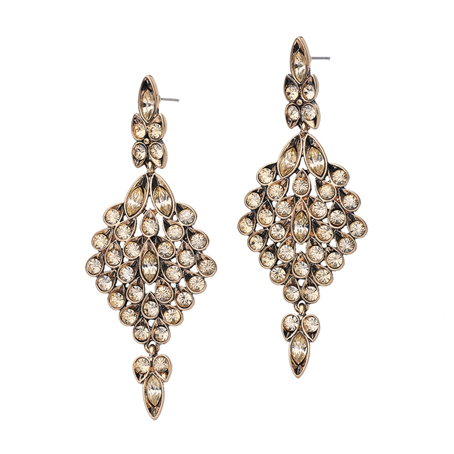 484fdf18c45cc US $3.75 |Dazzling Champagne Crystal Chandelier Earrings Summer Trendy  Bride Hanging Earrings Brand Luxury Jewelry -in Drop Earrings from Jewelry  & ...