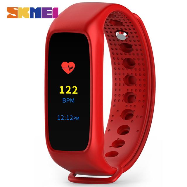 SKMEI L30T Homens Mulheres Pulseira Monitor de Freqüência Cardíaca Inteligente Sono Rastreador Chamada Lembrete Mensagem L28T Versão Atualizada de Pulso